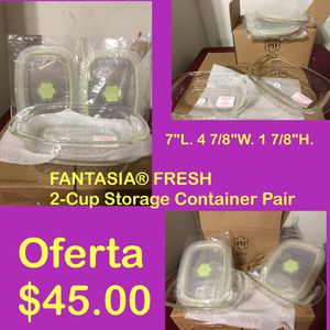 Fantasia 2-cup Storage Containers NEW for Sale in El Paso, TX