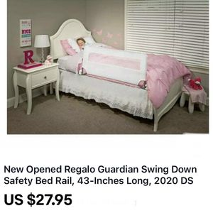 New Opened Regalo Guardian Swing Down Safety Bed Rail, 43-Inches Long, 2020 DS for Sale in Stockton, CA