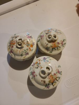 Four Chinese Porcelain Covered Bowls for Sale in Fairfield, CT