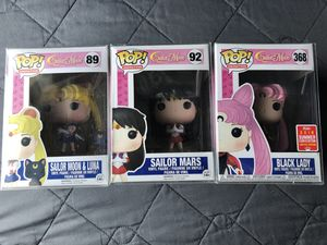 Funko Pop Sailor Moon Luna Mars Black Lady Vinyl Figure Collectible Toy Anime for Sale in Los Banos, CA