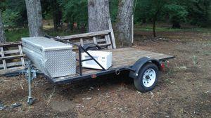 """""""Tilt trailer""""awesome tilt bed tailer for Sale in Estacada, OR"""