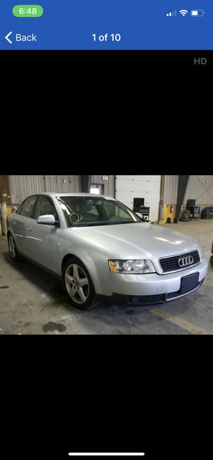 Parting out 2004 Audi A4 3.0L rear frame damage runs and still drives for Sale in Monroeville, PA