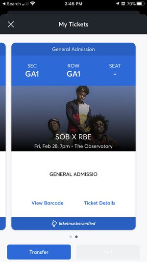 SOB X RBE CONCERT FOR THIS FRIDAY!! Two tickets for Sale in Rialto, CA