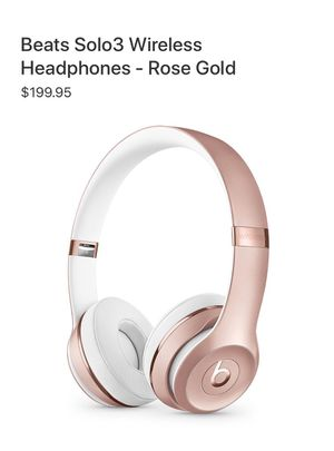 Beats Solo 3 Wireless Rose Gold for Sale in Ontario, CA