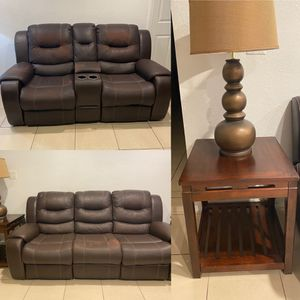 Couches, side tables and lamps! MUST GO ASAP! for Sale in Miami, FL