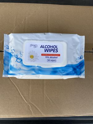 Alcohol wipes 50 count pouches for Sale in Downey, CA