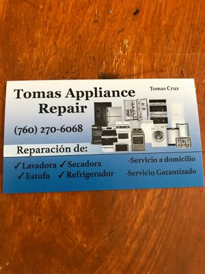 Applainces Repair Service In North and North West San Diego County for Sale in Escondido, CA