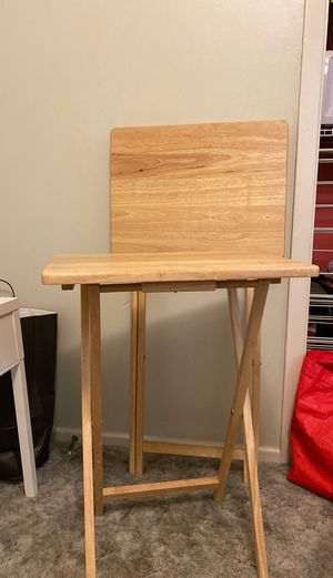 2 Pieces Foldable Wooden Snack Table Set for Sale in Abilene, TX