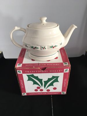 Longaberger Holly Tea Pot # 31615 retired for Sale in Scotch Plains, NJ