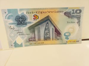 Papua new Guinea 10 Kina 2010 P40 UNC for Sale in Upland, CA