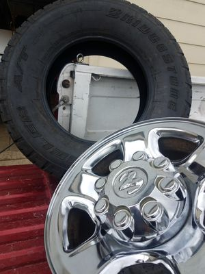 """Dodge ram 17"""" wheels and New tires for Sale in Montesano, WA"""