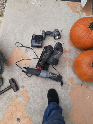 Porter cable power tool set only one charger all works for Sale in San Antonio, TX
