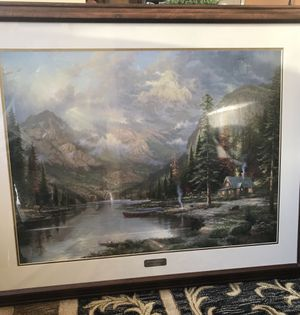 Thomas Kincade beautiful original painting with certificate for Sale in Ashburn, VA