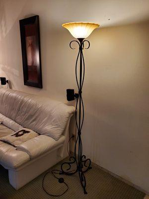 "Beautiful Bronze Wrought Iron Floor Lamp, 69"" Height for Sale in Fullerton, CA"
