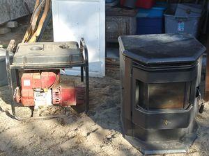 3500 watt generator and Pellet stove for Sale in Prineville, OR
