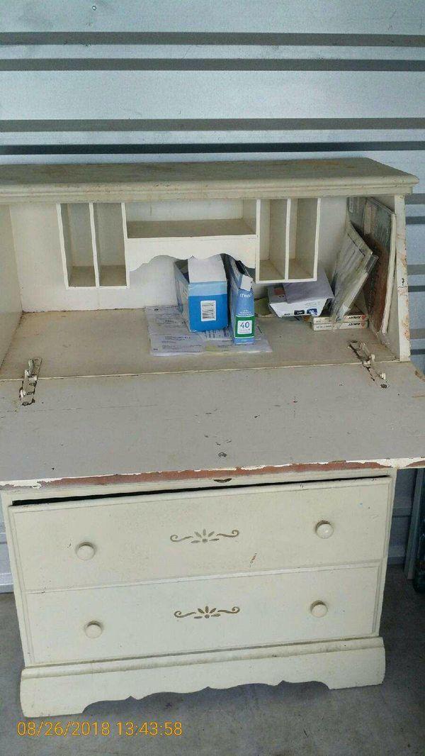 Off white Secretary style desk wood