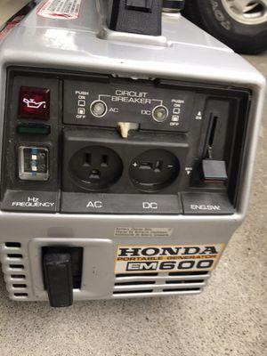 Generator Honda EM 600 for Sale in Vacaville, CA