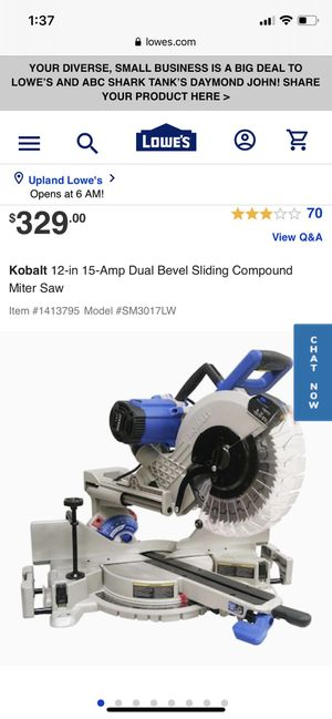 12 inch kobalt sliding miter saw brand new for Sale in Upland, CA