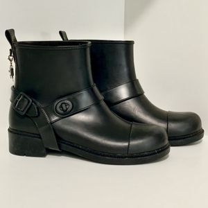 Coach, Motorcycle Style Rain Boots, Black, US 8 for Sale in Miami, FL