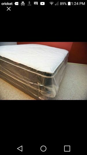 Queen new bed pillow top can deliver for Sale in Lodi, CA