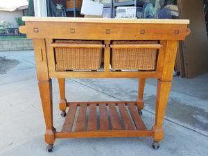 Butcher block kitchen cart for Sale in Orange, CA
