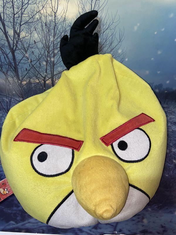 Large Angry Birds Yellow Chuck Plush Microbead Bean Bag