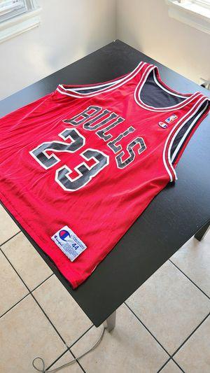 100% Authentic Vintage Champion Rare Reversible Jordan Jumpman 23 Last Dance Black Red Jersey Size 44 Men's L $200 for Sale in Los Angeles, CA