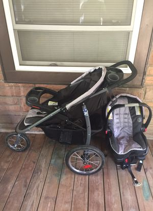 Graco Stroller and Car Seat Combo. Smooth Jogging Stroller Retail is 299$ for Sale in Winston-Salem, NC
