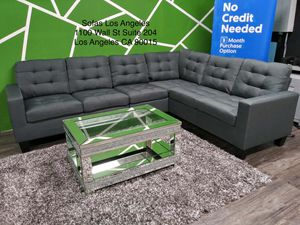 Grey sofa sectional couch No Credit Needed No Credit Check Apply Today for Sale in Downey, CA