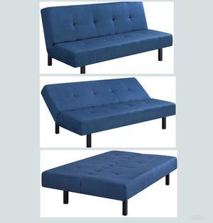 "NEW!!! Blue 65"" 3 Position Tufted Futon, Futon, Blue Futon, Couch, Furniture for Sale in Phoenix, AZ"