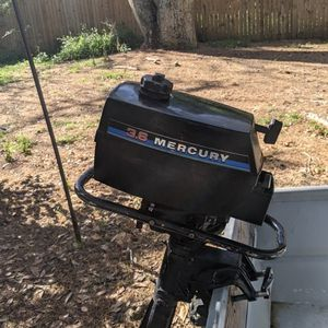 12 Feet John Boat And Trailer And Motor Mercury 3.6 Hp for Sale in Orlando, FL