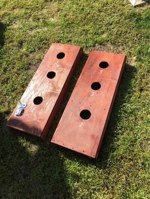 Hand-made 3 hole washer toss game board for Sale in Atco, NJ