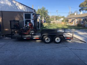 16x7 heavy duty utility trailer with 4 new tires for Sale in Jacksonville, FL