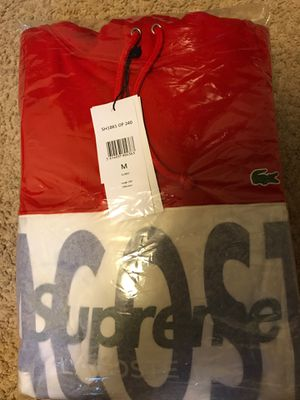 Supreme/Lacoste Red Hoodie for Sale in Hanover, MD