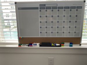 Dry-Erase Monthly Calendar + Markers for Sale in Dallas, TX