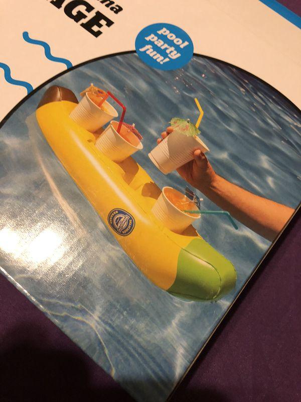 Inflatable Big Banana Beverage Boat *New