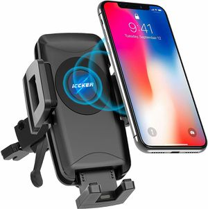 Wireless Car Charger Qi Fast Wireless Charger Air Vent Phone Mount for Sale in Riverside, CA