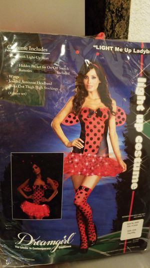 Light me up lady bug women's Halloween costume size extra large, 4P set New for Sale in Riverside, CA