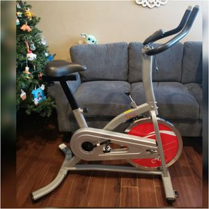 Spin Bike - Sunny Health & Fitness Indoor Exercise Stationary Bike with Digital Monitor, 22 LB Chromed Flywheel for Sale in Palmdale, CA
