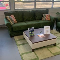 Pistachio green Living Room Set Multi Functional Sit Sleep Store for Sale in Bellwood,  IL