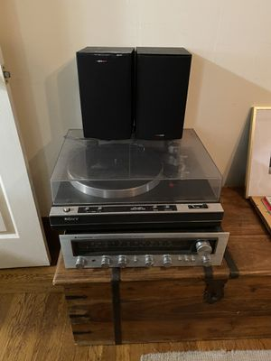 Sony PS-X50 Turntable, Kenwood KR 5030 Receiver and Polk Audio T15 Speakers for Sale in San Francisco, CA