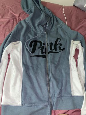 Pink Victoria secret zip up hoodie for Sale in Stow, OH