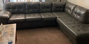 Leather sectional for Sale in Las Vegas, NV