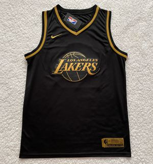 LeBron James Los Angeles Lakers NBA Jersey - Brand New - Never Used - Men's - Nike Golden Edition Black Basketball Jersey - Size M and L for Sale in Chicago, IL