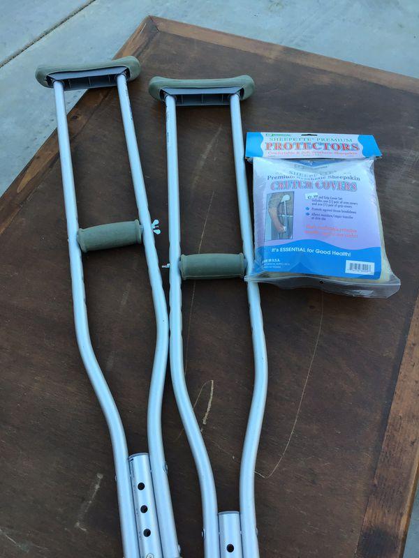 Crutches and Sheep Skin Protectors Health