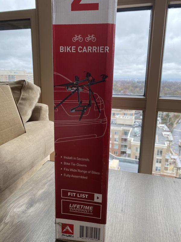 Never used- bike rack for car