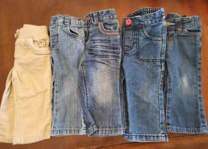 12 month baby girl Jean's. All for $5. for Sale in Fresno, CA