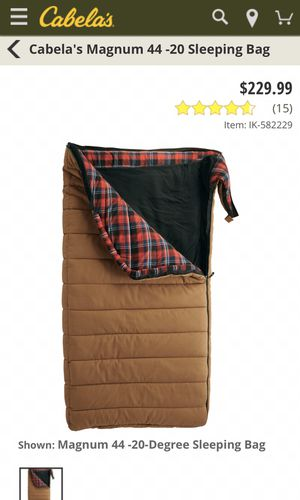 Cabello Magnum 44 sleeping bag hunting/ camping for Sale in Las Vegas, NV