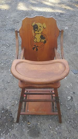 Antique baby hieght chair potty table for Sale in Bensalem, PA