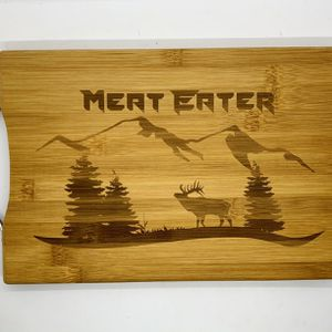 Meat eater laser engraved bamboo high quality cuttingboard valentines gift for Sale in Los Angeles, CA